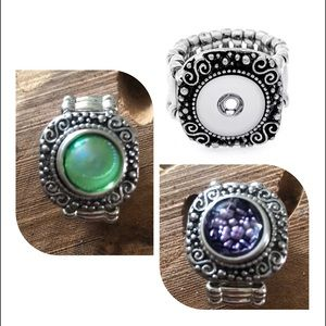 Interchangeable charm ring for 12 MM charms